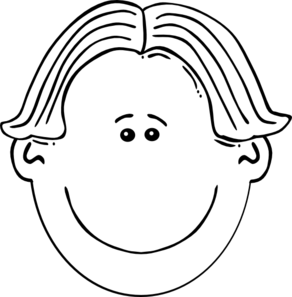 Faces clipart white. Faces clipart white. Kid face black and