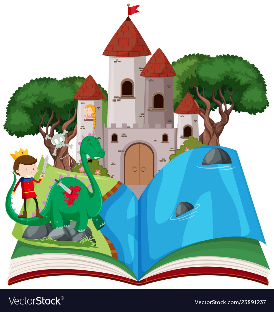 Fairy clipart free book. Open tale theme