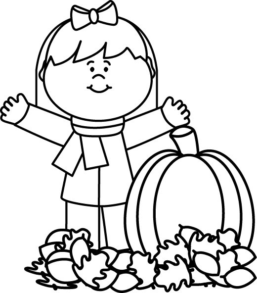 Fall clipart black and white boy. Free autumn cliparts download