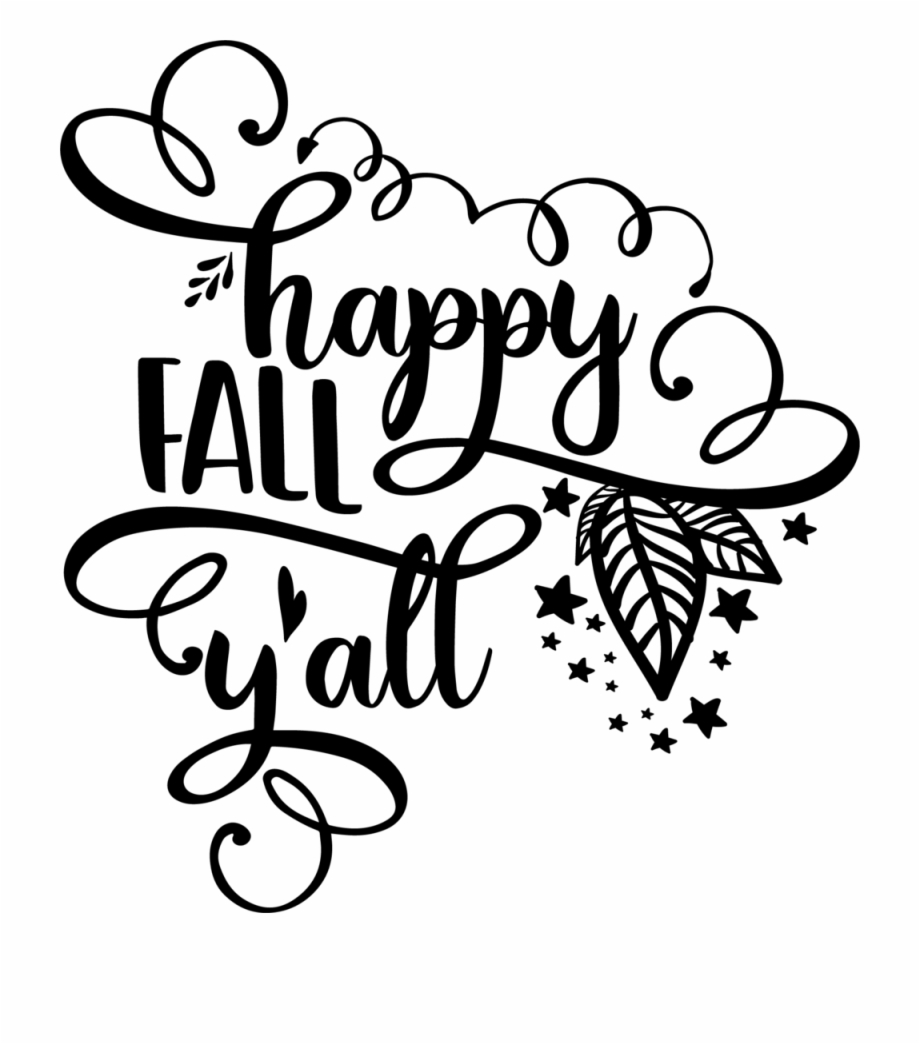 Fall clipart black and white happy yall pictures on ...