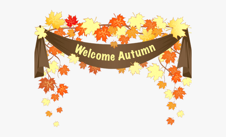 Fall clipart welcome.
