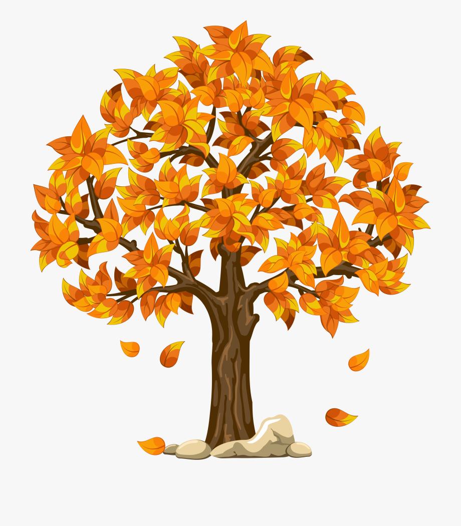 Autumn trees clipart.