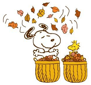 Snoopy fall the.