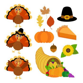 Fall clipart thanksgiving. Turkey autumn