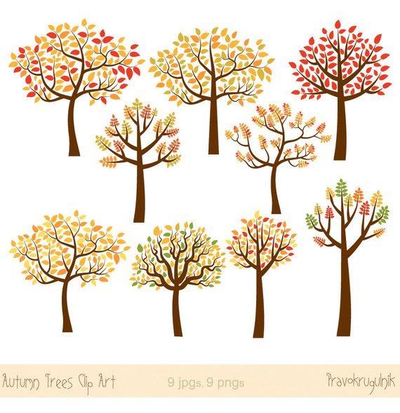 Autumn tree clipart.