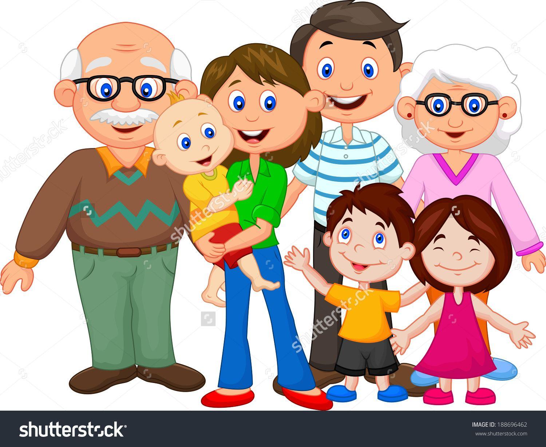 Family cartoon .