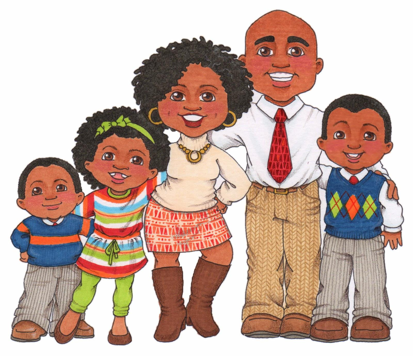 African american family.