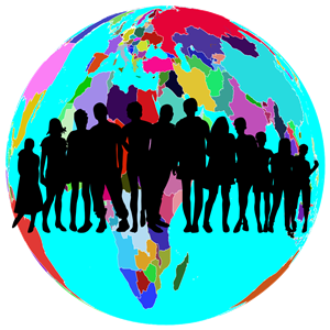 Colorful world globe.