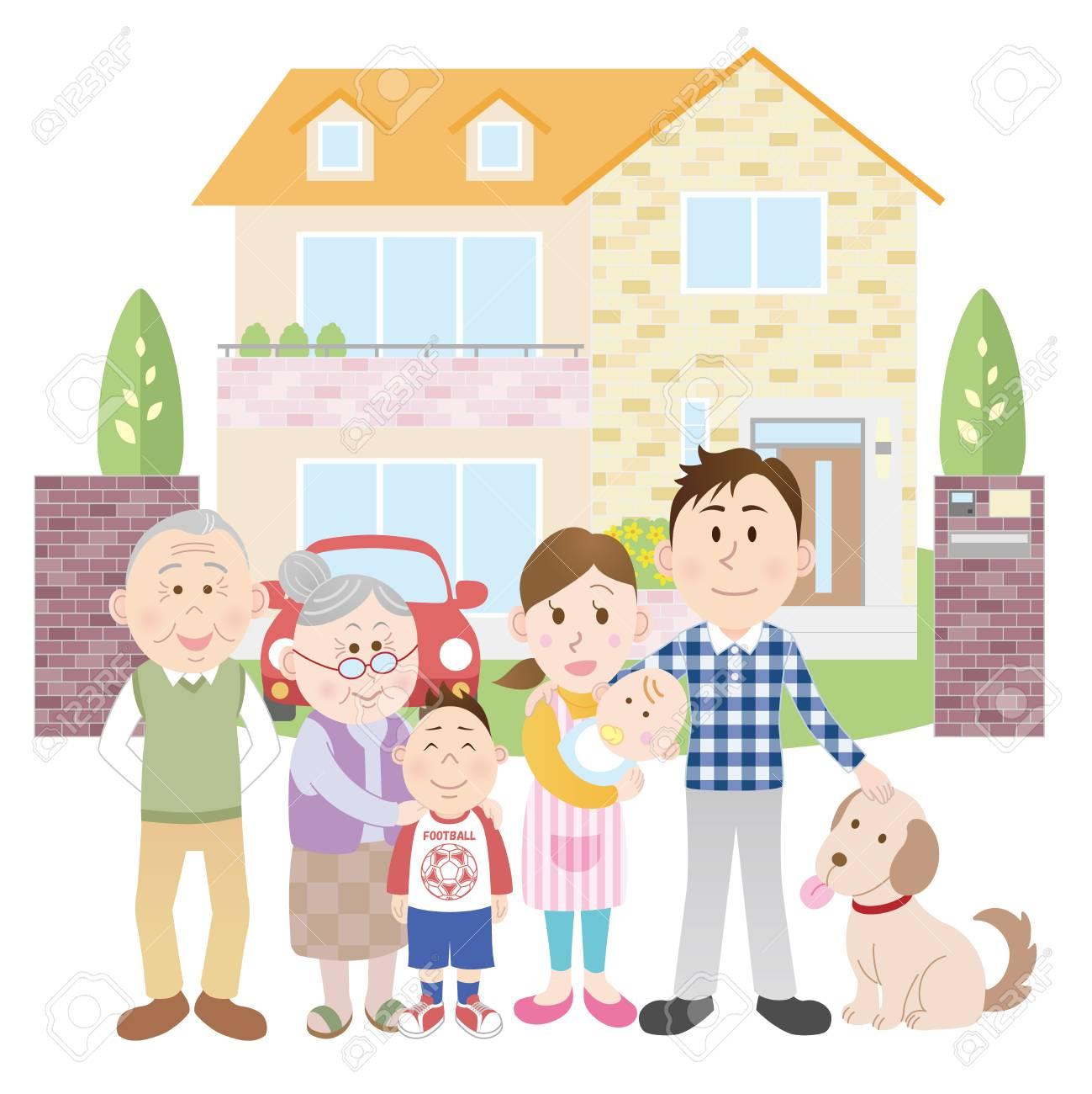 Family clipart house. Happy portal