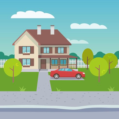 Family clipart house. Flat download free vectors
