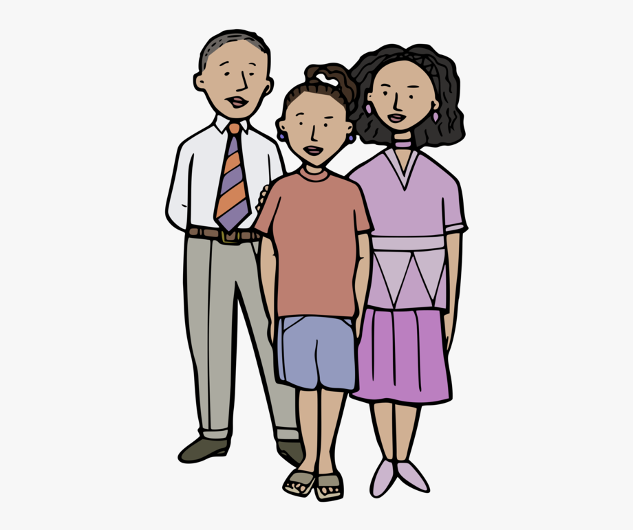 Family clipart multicultural.