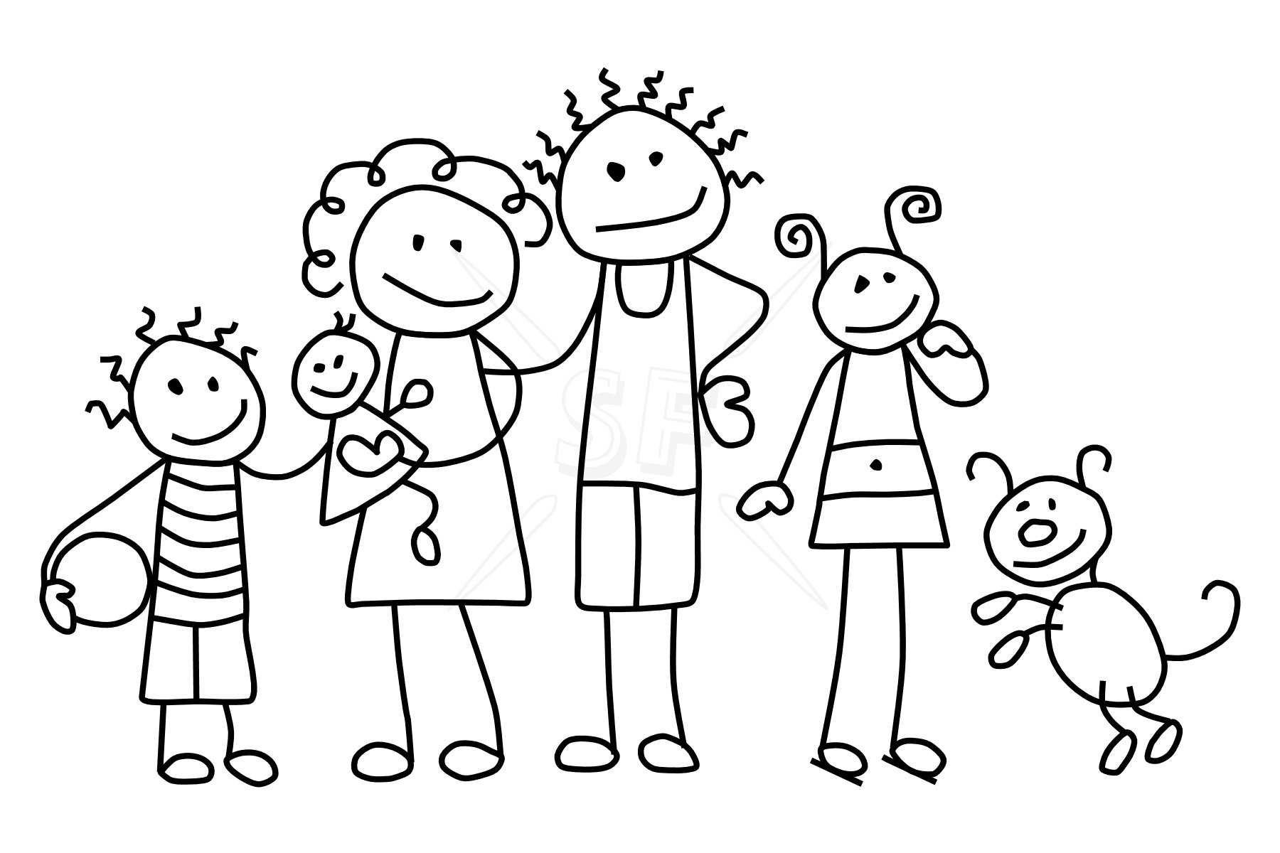 Family clipart white. Family clipart white. Black and