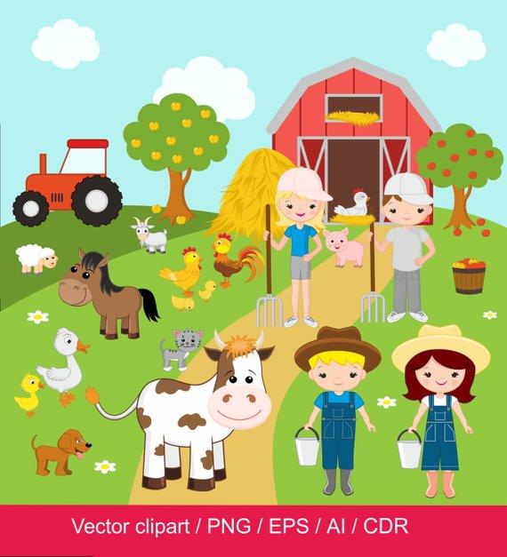 Farm clipart farm.