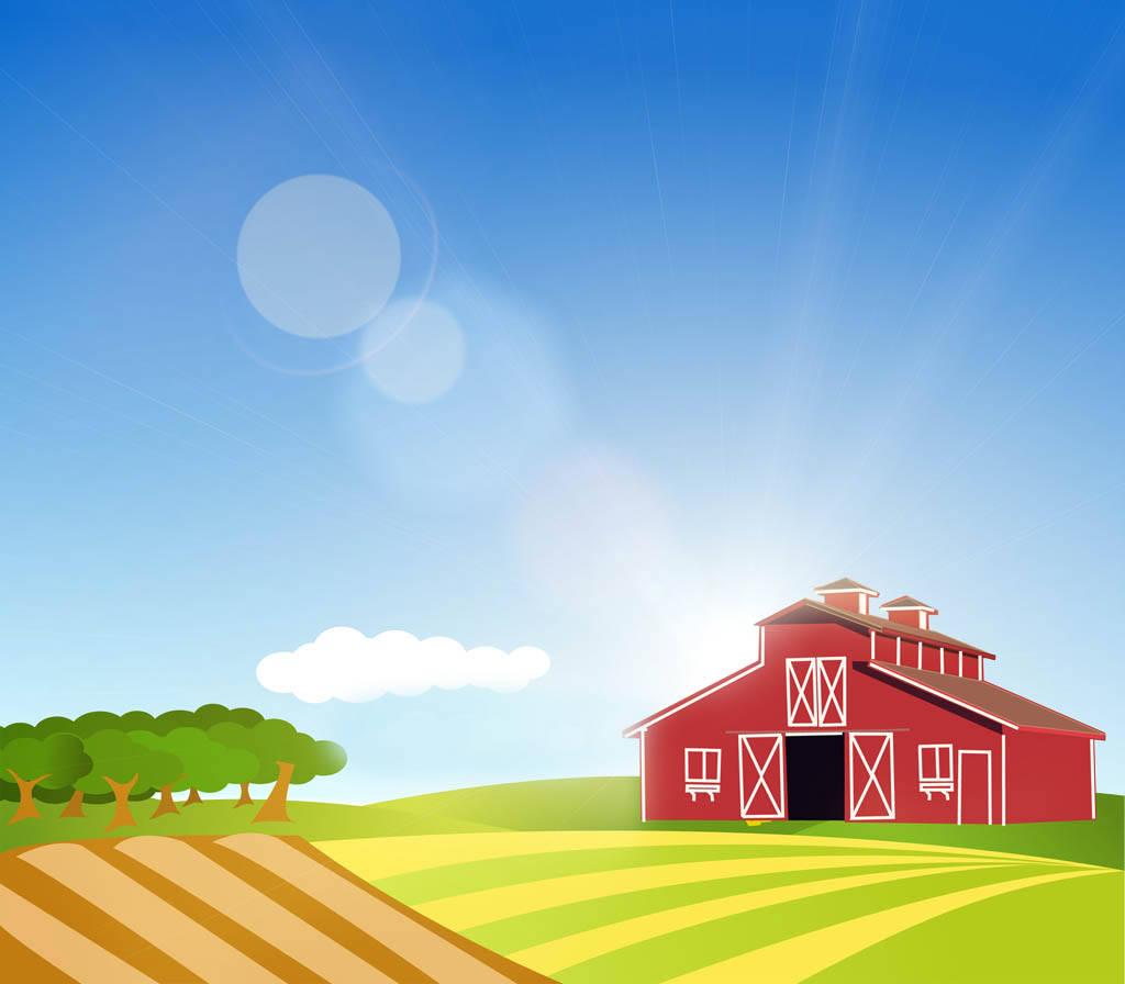 Farm background clipart.