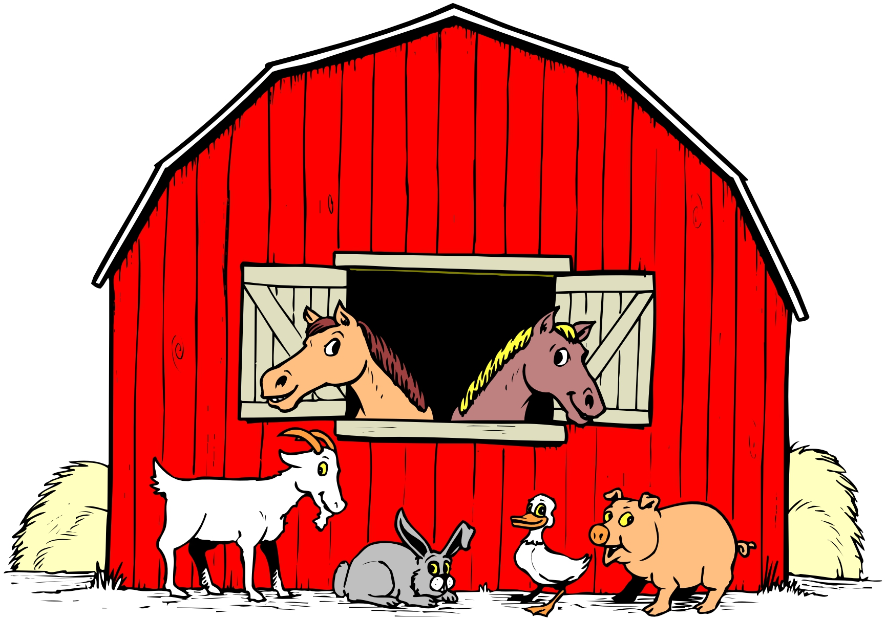 Farm clipart cartoon. Free pictures download clip