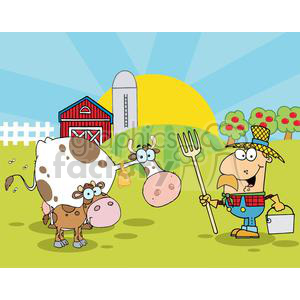 Country farm scene.