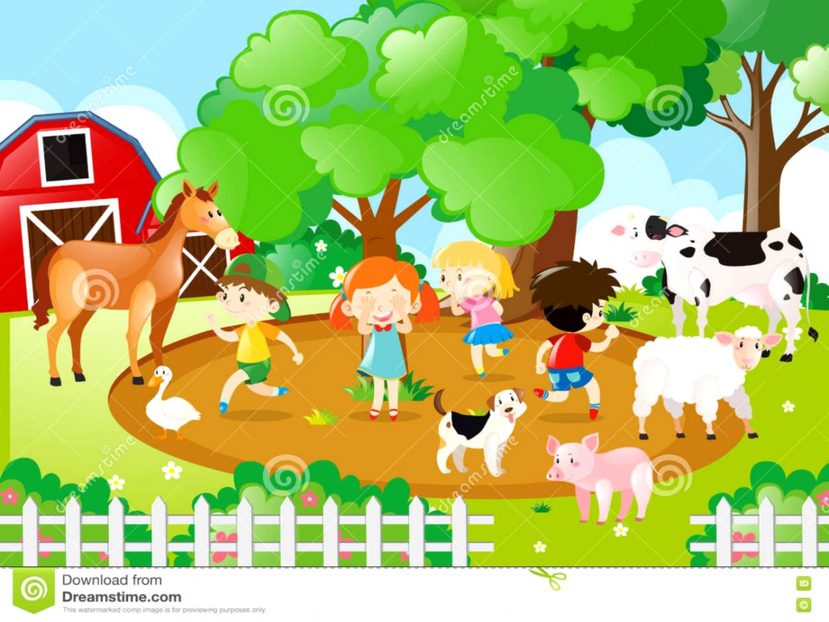 Farm animals clipart.