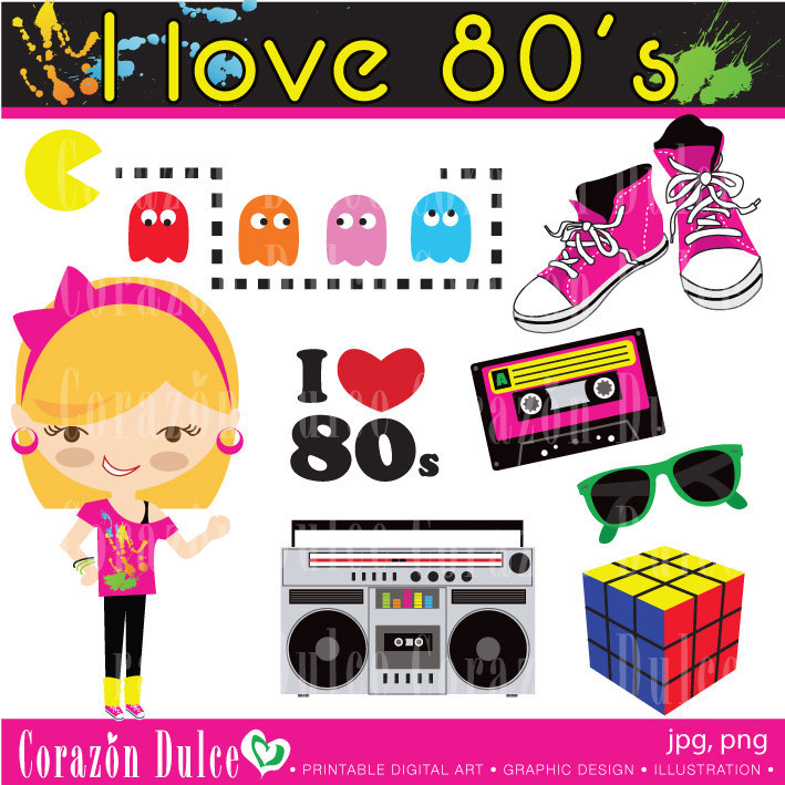 Fashion clipart 80's. Free s cliparts download