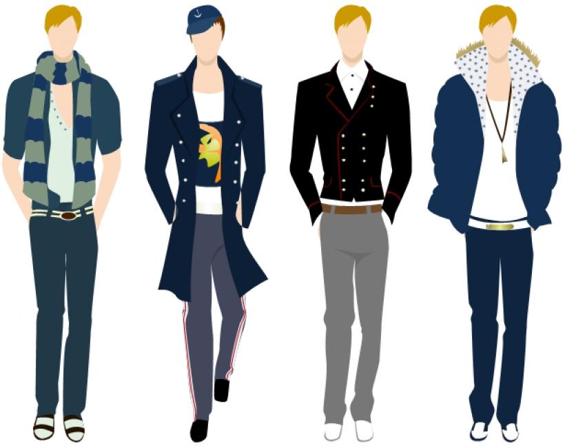 Man fashion cliparts.