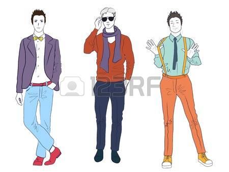 Men fashion clipart.