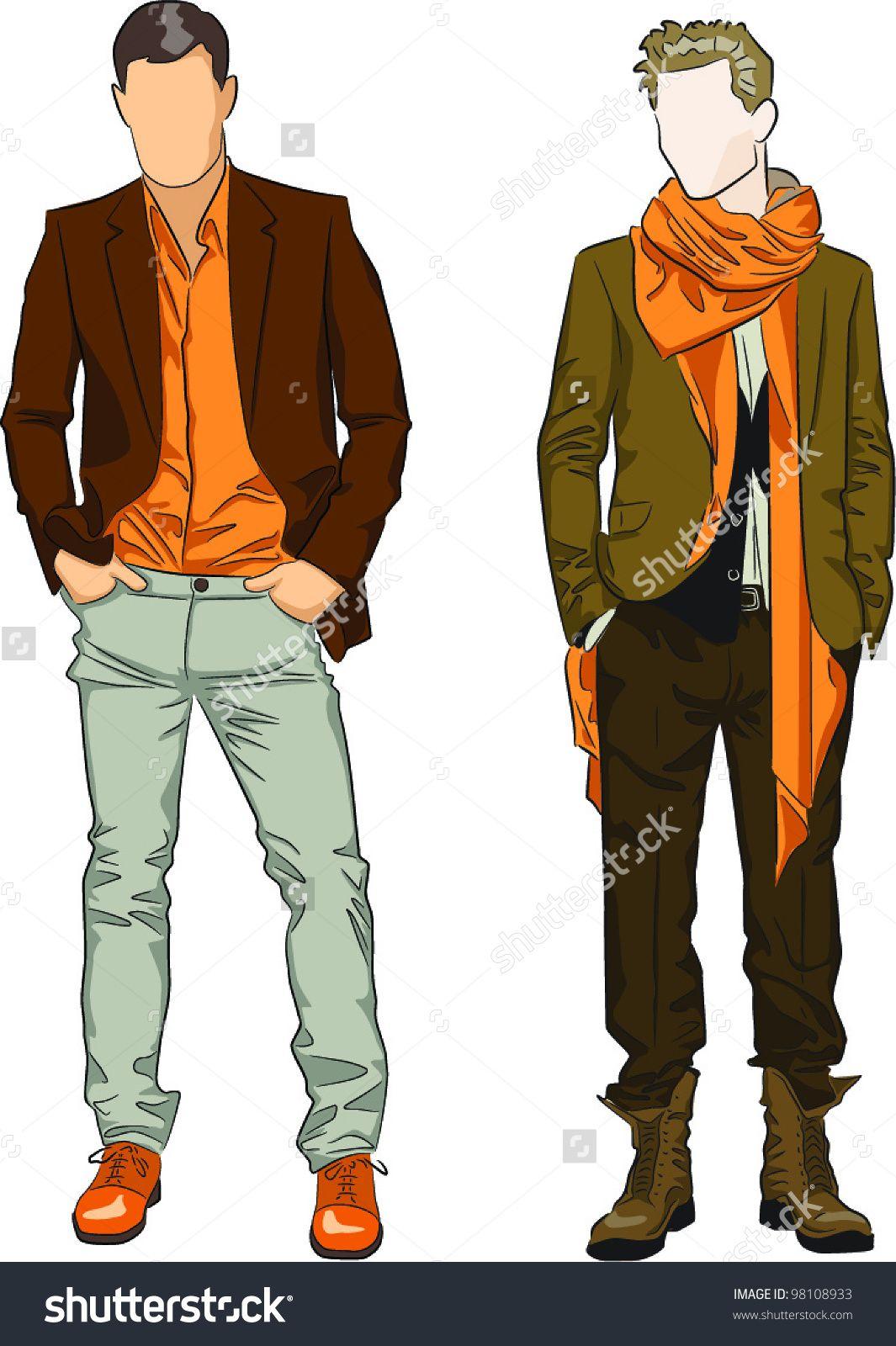 Male fashion template.