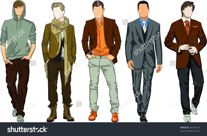 Mens clothing descriptions.
