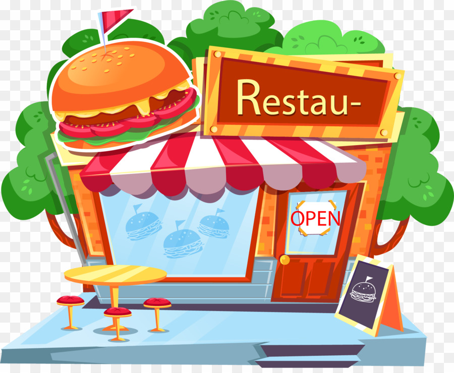 Fast food restaurants.