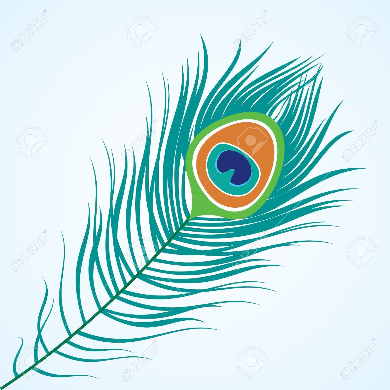 Feather clipart peacock. Stock illustrations cliparts and