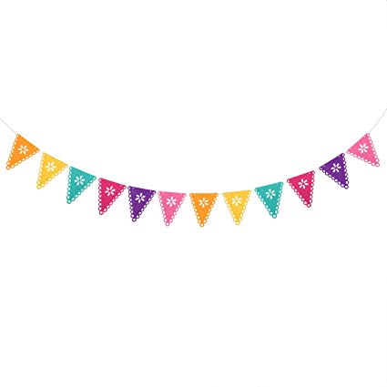 Fiesta banner clipart colorful. Amazon com luoem mexican