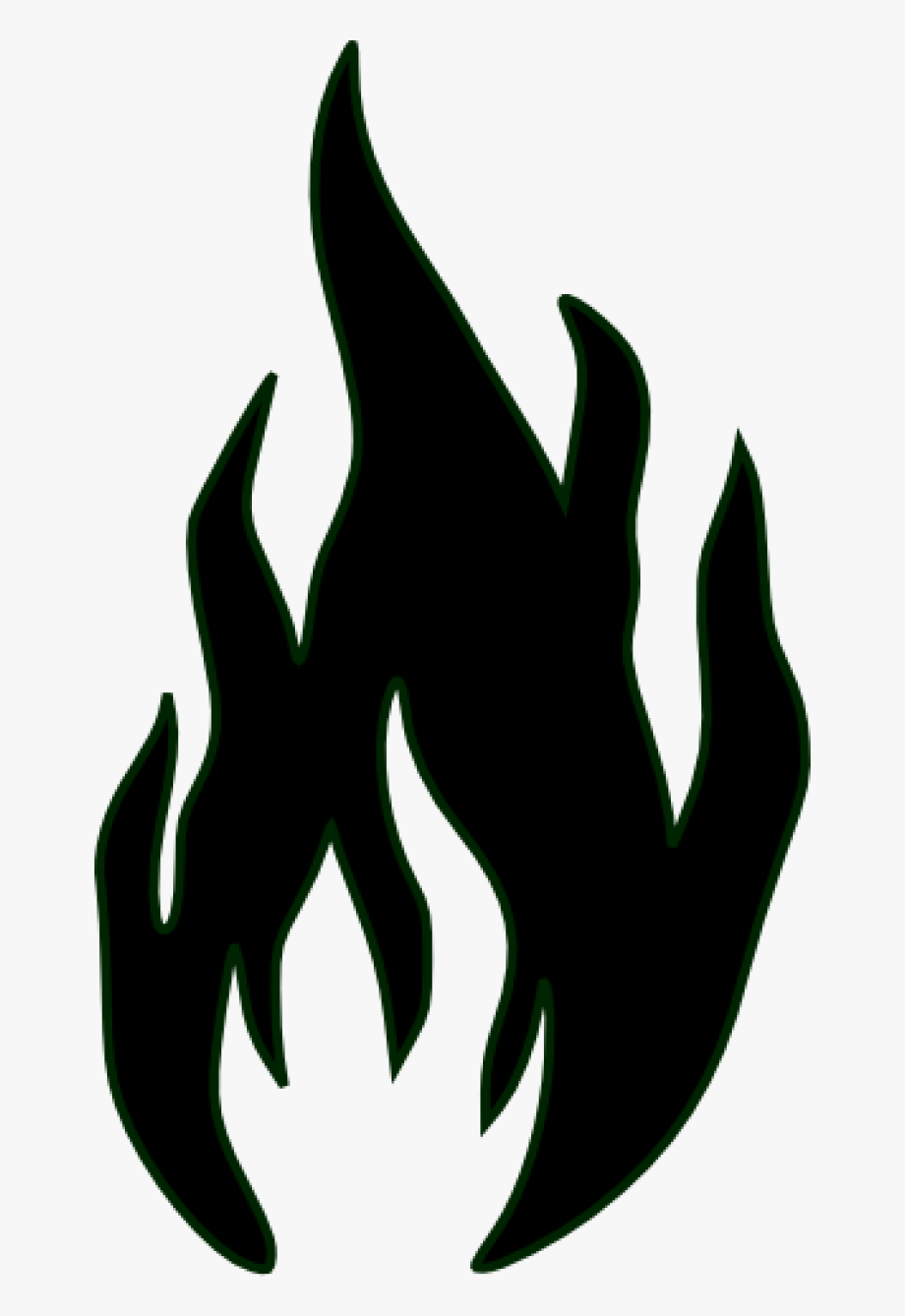 Black And White Fire Clipart