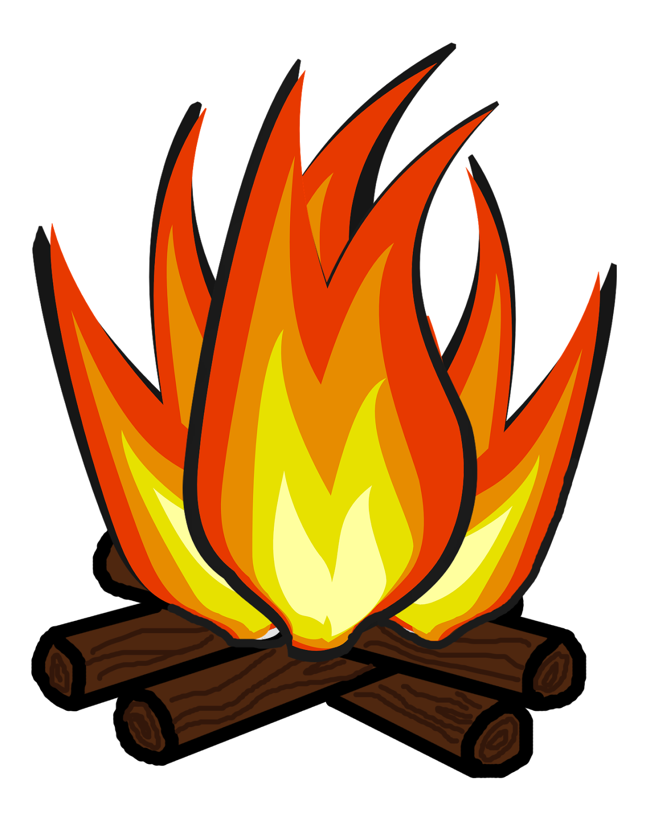 June campfire clipart.