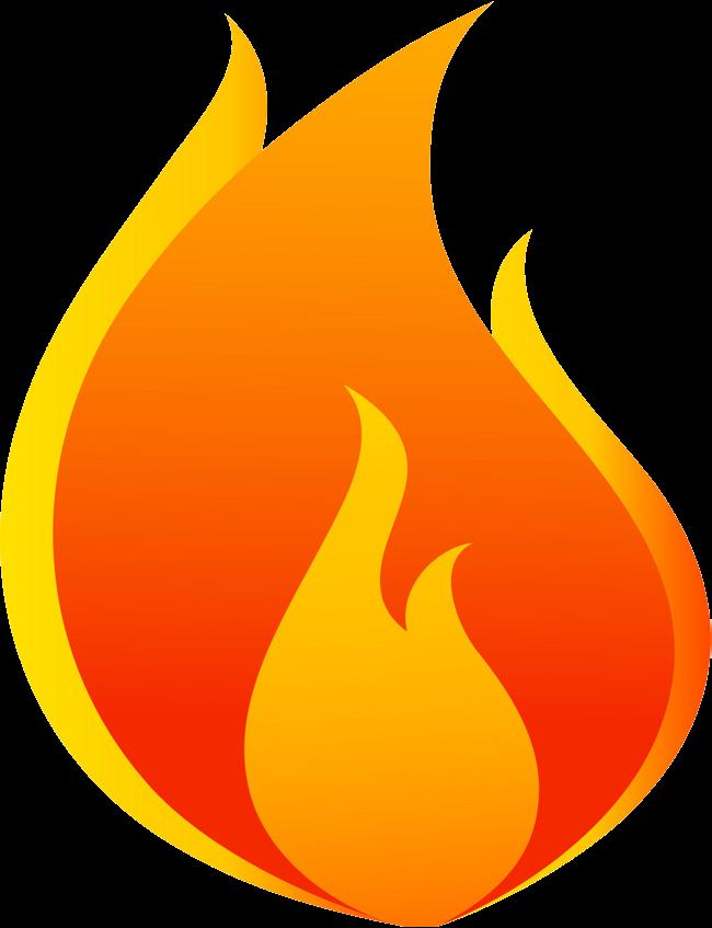Fire cartoon flame.