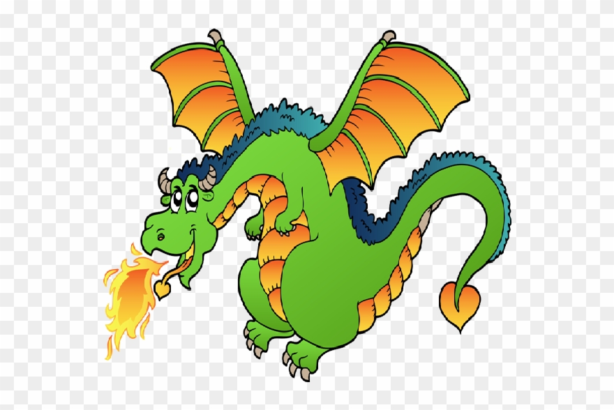 Dragon Clipart Free Funny Dragons With Flames Cartoon