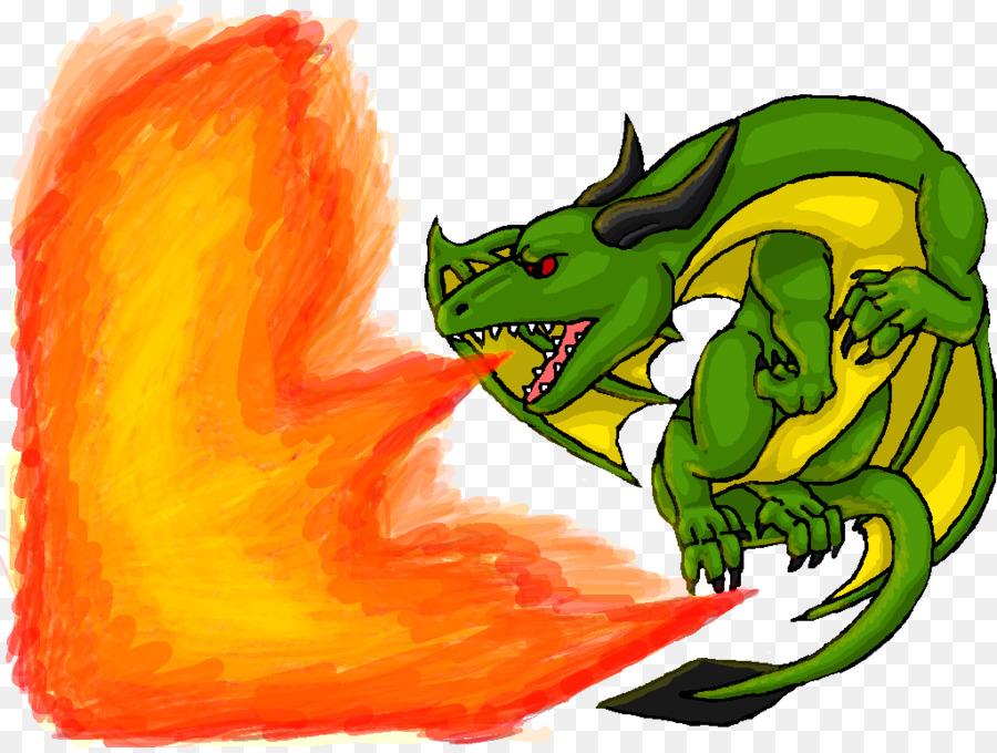 Fire breathing dragon.