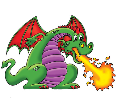 Free cartoon dragon.