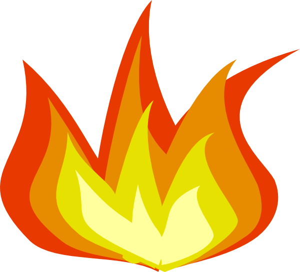 Free moving fire.