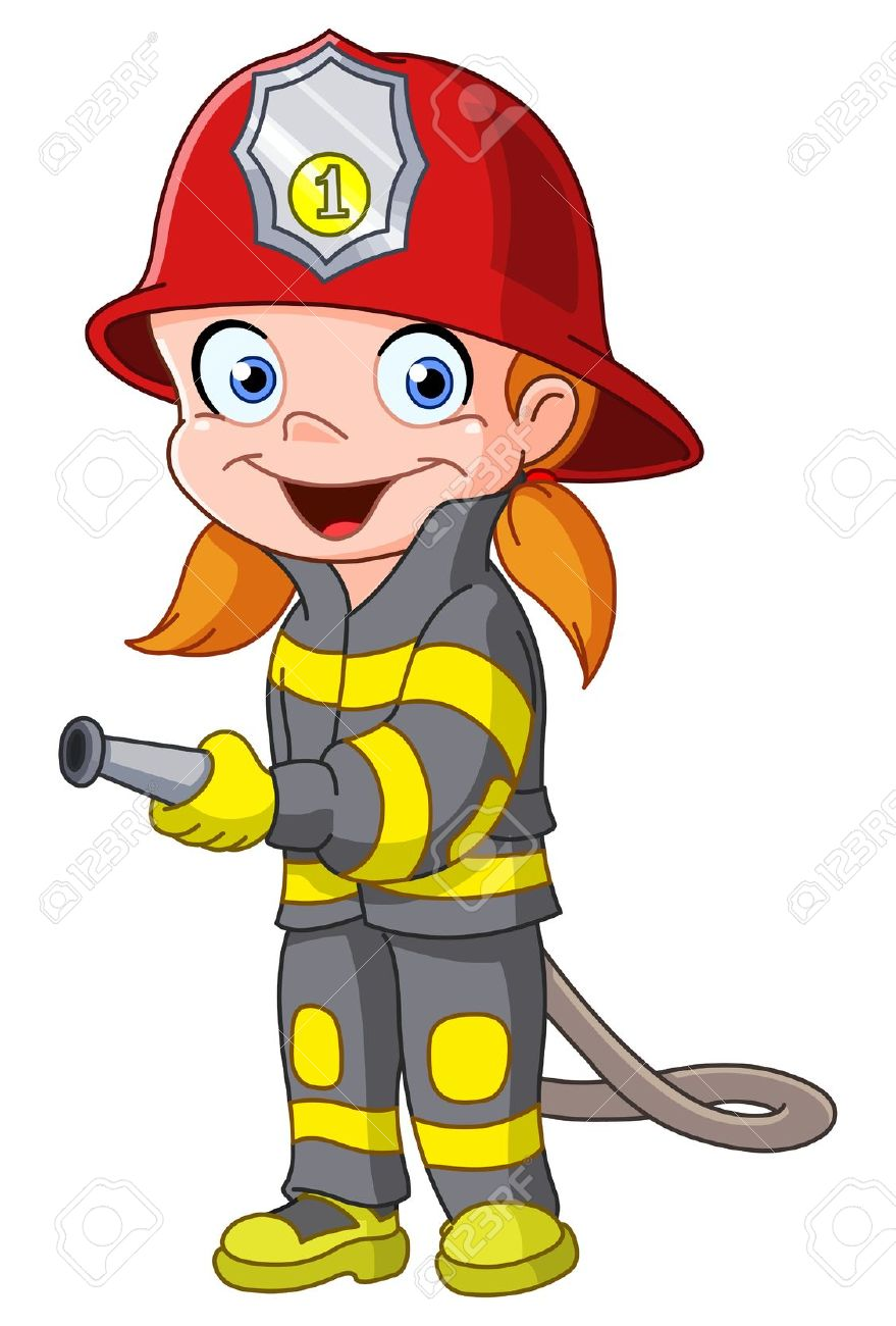 fireman clipart animated