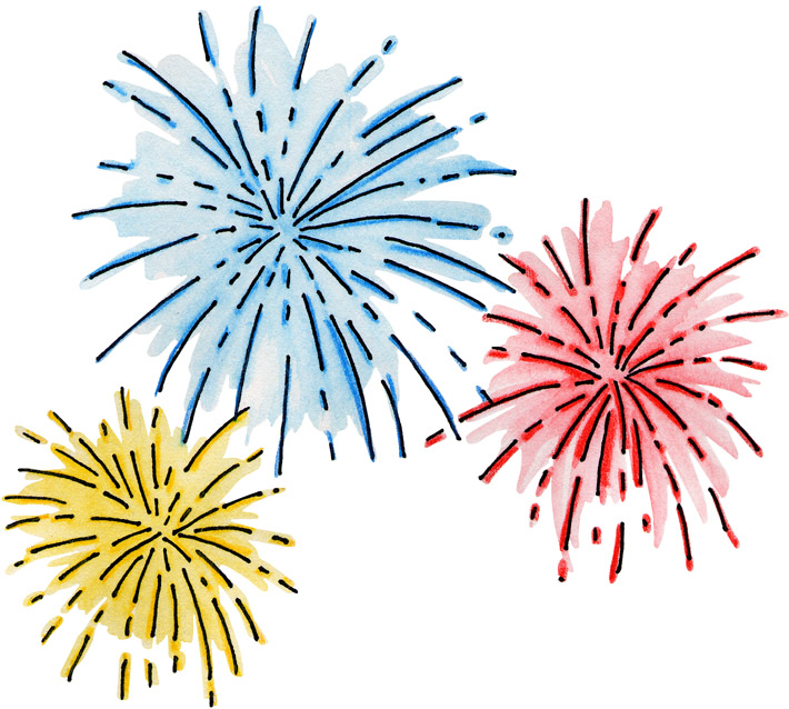 Free fireworks cliparts.