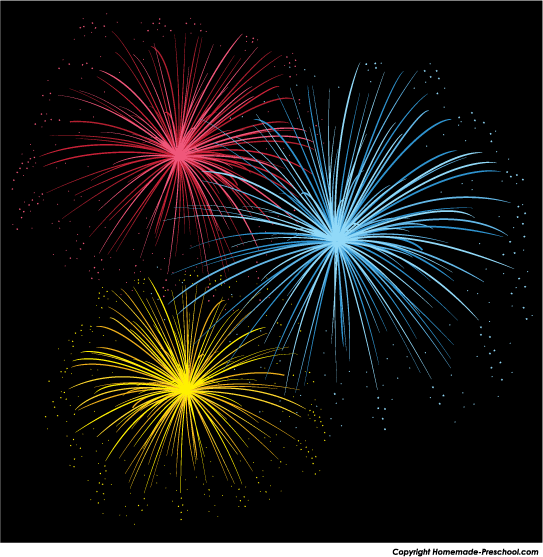 Free fireworks clipart.