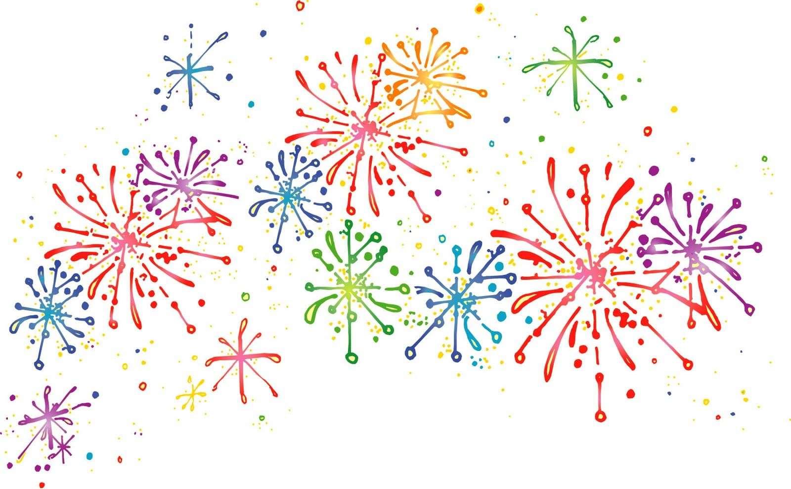 fireworks clipart free colorful