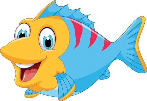 Cartoon clipart fish.