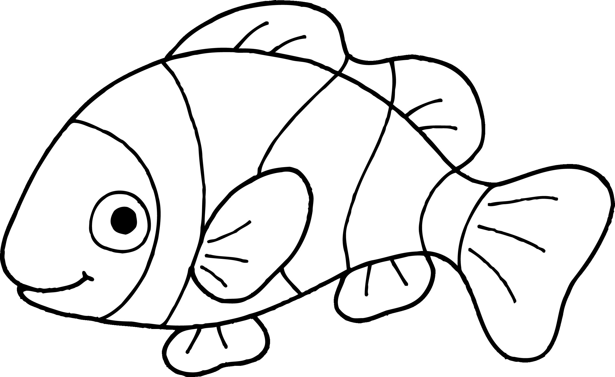 Fish outline nemo