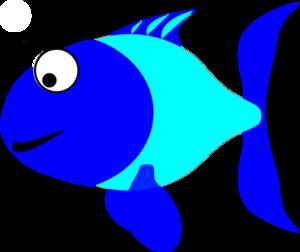 Blue fish clip art free clipart images