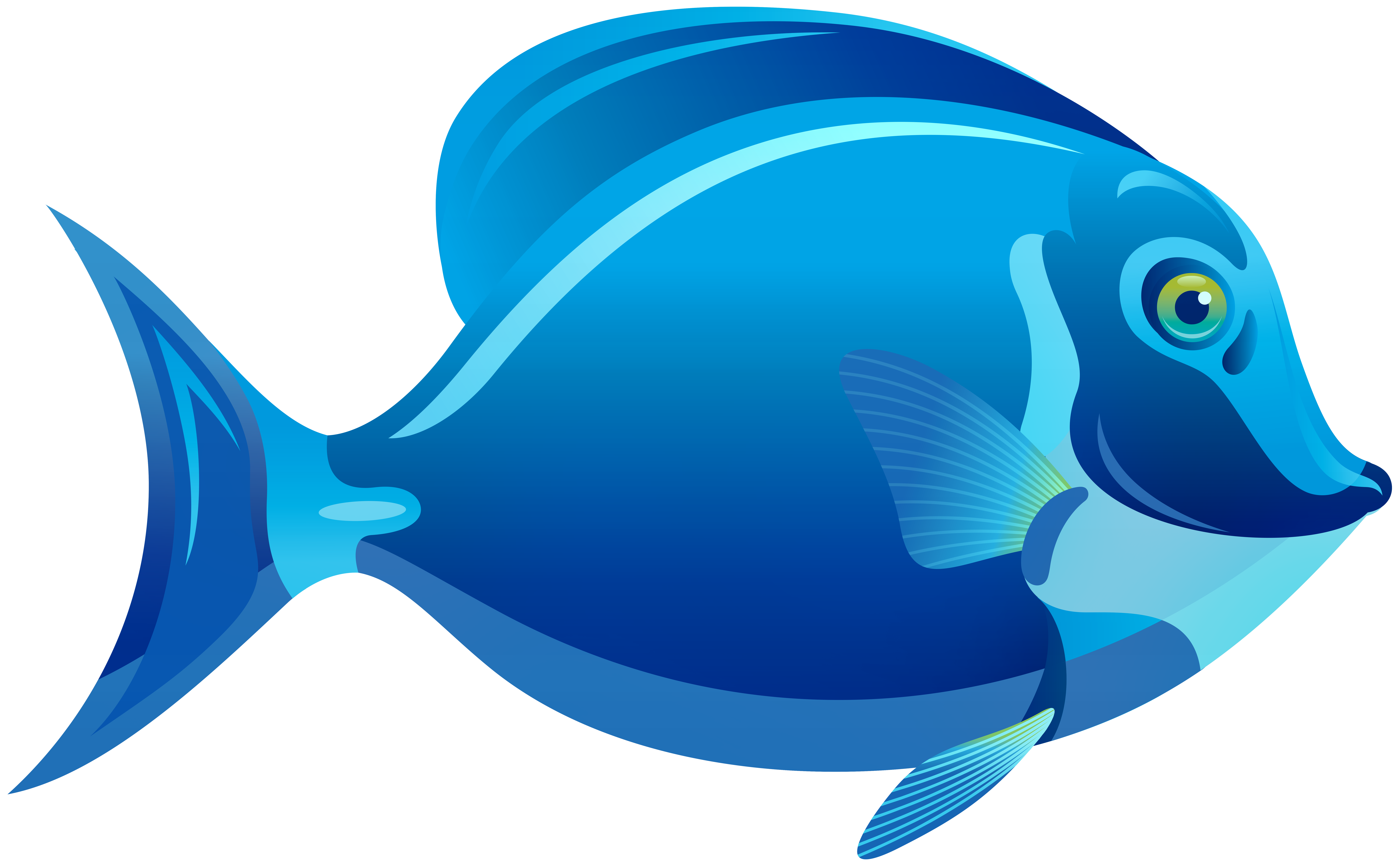 Blue Fish PNG Clipart