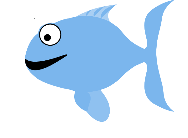 Light Blue Happy Fish Clip Art at Clker