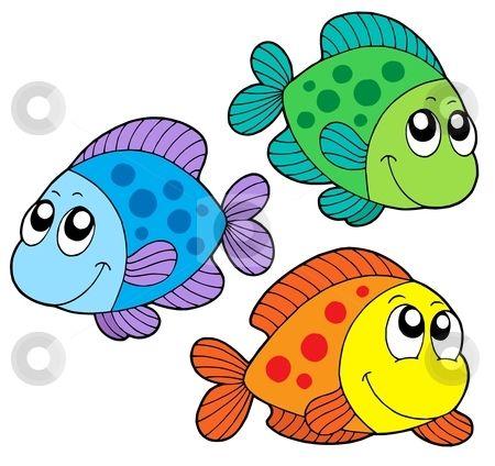 Color fish clipart
