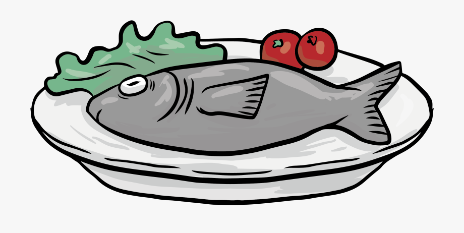 Dish Clipart Fish Cooked