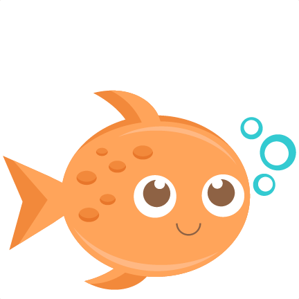 Fish clipart cute fish pencil and in color