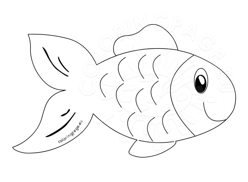 Fish clipart outline.