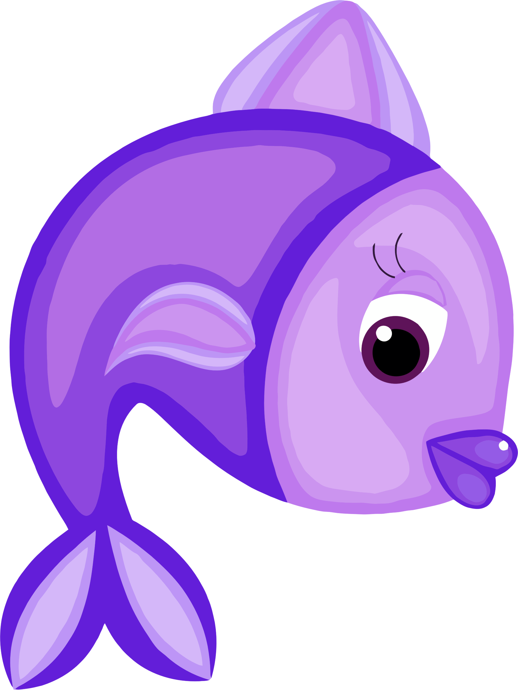 Fish clipart purple, Fish purple Transparent FREE for